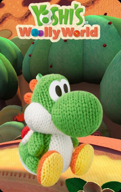 Yoshi's Wooly World - Green Yarn Yoshi.png