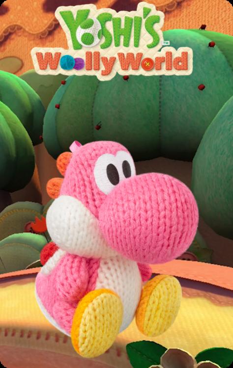 Yoshi's Wooly World - Pink Yarn Yoshi.png