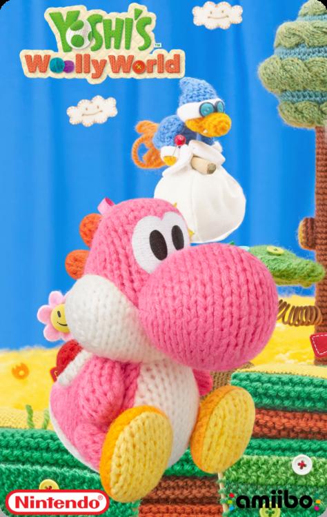 Yoshi's Wooly World - Pink Yarn YoshiBack.png