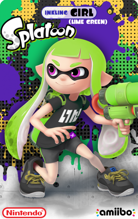 Splatoon - Inkling Girl (Lime Green)Back.png