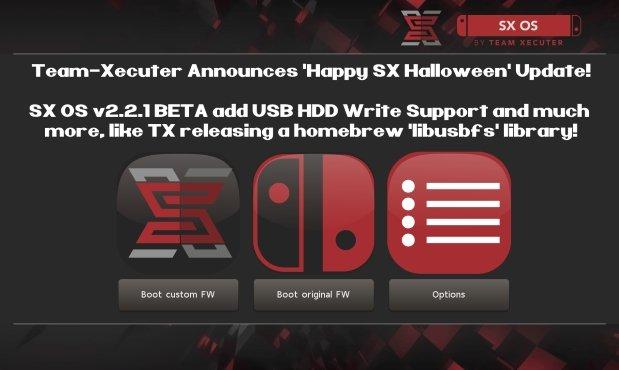 SX OS fête Halloween avec le firmware 2.2.1b