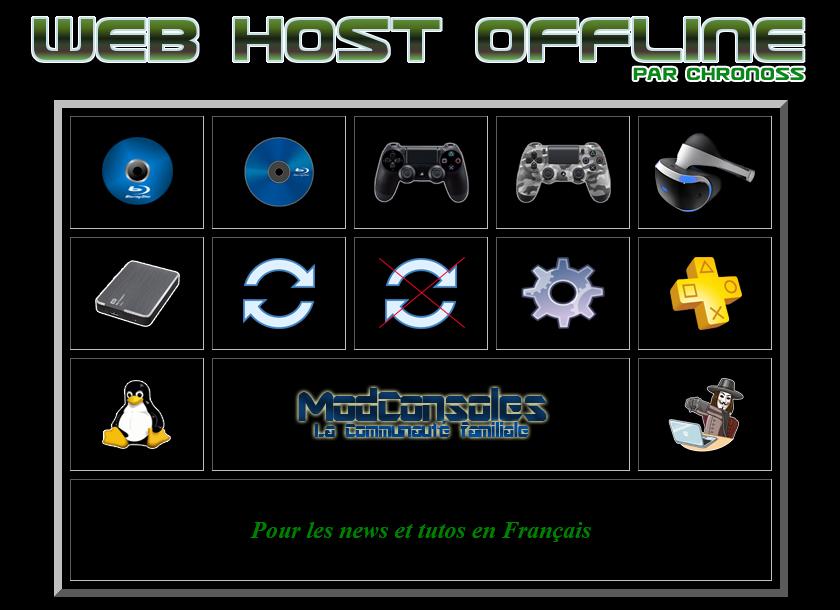 [EXCLU] Web Host Offline passe en v2.1 : utilisez votre PS4 sans internet