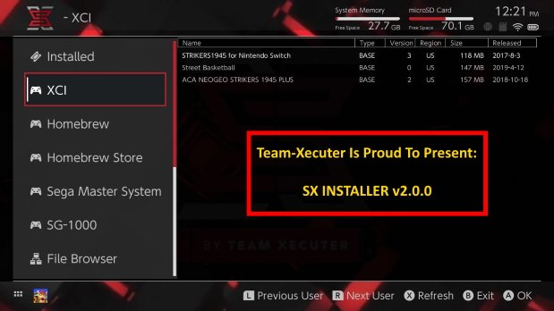 SX Installer v2.0.0 par la Team TX